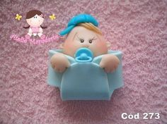 Molde de bebe na fralda Contém fralda, rosto, boné, mão e chupetinha Vem tudo separado e a fralda vem aberta Ideal para lembrança de nascimento R$ 12,32