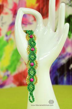 Provence Flower Bracelet Tutorial ✿ #Macrame #Flower #Bracelet #Tutorial