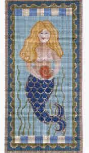 Mermaid Eyeglass Case  $48  Amanda Lawford  This Mermaid eyeglass case is a handpainted needlepoint canvas from the Amanda Lawford Collection. We can match any canvas with your favorite needlepoint yarn to create custom needlepoint kits.     3.5 x 7   18 count
