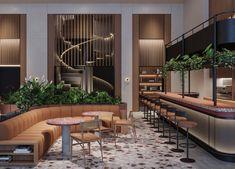 Fogarty Finger » Platt Street Hotel Hotel Lounge, Bar Lounge, Lounge Design, Floor Design, Manhattan Hotels, Rooftop Design, Terrazzo Flooring, Luxury Furniture Brands, Restaurant Interior Design