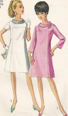 1967 Short Dress with Different Sleeve Lengths by Redcurlzs, $5.00