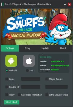Smurfs Village and the Magical Meadow Hack Cheats Tool  Smurfs Village and the Magical Meadow Hack is Modhacks.com a new tool, that we all want to present to you. If you ever glimpse at all the other hacks on line, this amazing tool is the most effective. This specific tool was made to be …