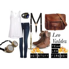 Leo Valdez outfit for girls!! This would totally be my Halloween costume !!!