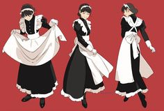 Character Poses, Character Art, Character Design, Victorian Maid, Anime Maid, Poses References, Maid Outfit, Haikyuu Characters, Cybergoth