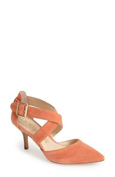 Free shipping and returns on Sole Society 'Tamra' Pointy Toe Pump at Nordstrom.com. Lush straps cross atop an ultra-posh suede pump set on a demure kitten heel.
