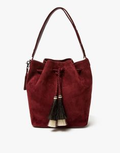 From Loeffler Randall, a minimalist shoulder bag in Port. Featuring a leather construction, main compartment with…