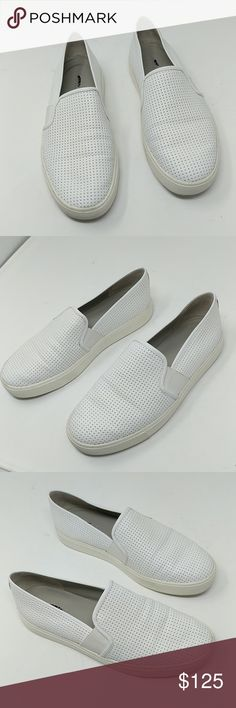 Vince Perforated Slip On Sneakers VERY light use as shown in photos. Size is 6.5/36.5 Vince Shoes Sneakers