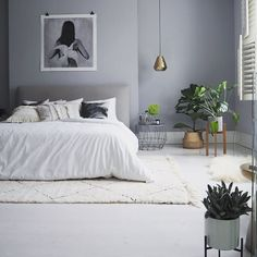 When seasons change I have an urge to update my interiors. Sometimes it's a full revamp but mostly I just update with accessories. Blue Bedroom, Bedroom Colors, Dream Bedroom, Diy Bedroom Decor, Bedroom Bed, Bedrooms, Decorating Small Spaces, My New Room, Cheap Home Decor