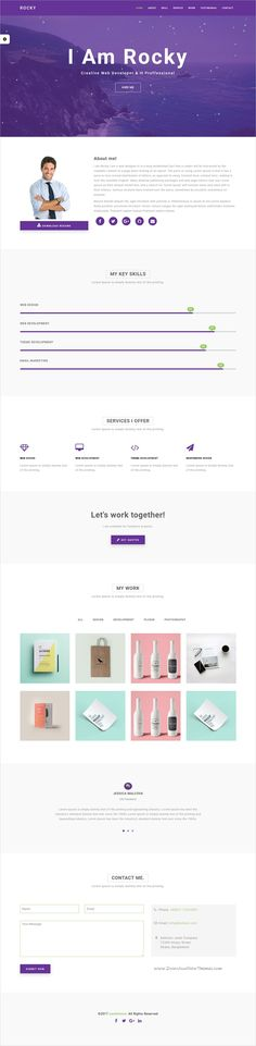Resume Html Template Resuma  Resume Portfolio Responsive WordPress Theme  WordPress