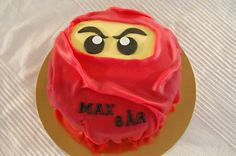 This is what B-Man's cake is going to look like but blue! Lego Ninjago cake