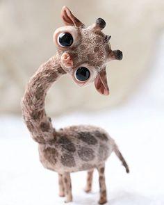 Roztomilá Zvířecí Miminka, Legrační Zvířata, Žirafy, Fimo, Opice, Kawaii