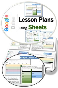 •	Create customized layouts  (depending on grade level, subjects taught, school schedule etc.) •	Easily duplicate layout for each day/week/month of the school year •	Quickly access each plan from one location •	Share through Google Drive to co-create/edit lesson plans