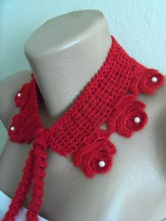women's stylish  red  necklace great christmas by colourfulrose, $19.90