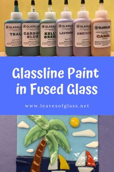 Some experiments using Glassline Paints in my fused glass projects.