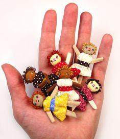 Primitive Rag Doll Kit Makes 6 Dolls