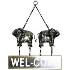 wooden welcome elephant