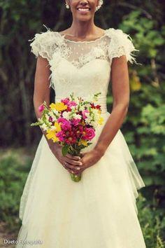 Noiva Marina Ribeiro - Vestido Carol Hungria