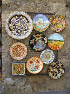 Italian Tuscany pottery  #TuscanyAgriturismoGiratola
