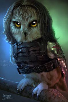 The Owlvengers - Bucky the winter owl by 4steex