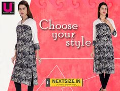Choose your pick from our line of #stylish #kurtis. Find us here : http://nextsize.in/