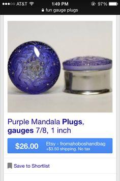 Found on google images- Purple Mandala plugs