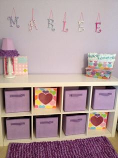 Love this organization for a little girls room.
