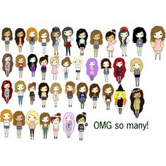 ALL CHIBI GIRLS #chibigirls #kawii