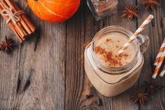 Enjoy this chemical-free, guilt-free, homemade pumpkin coffee creamer this fall or all year long! Healthy Milkshake, Milkshake Recipes, Smoothie Recipes, Sweet Potato Smoothie, Pumpkin Pie Smoothie, Power Smoothie, Smoothie Prep, Fruit Smoothies, Stevia