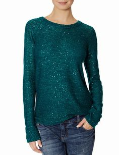 Crew Neck Sequin Sweater from THELIMITED.com #ItsTime #TheLimited