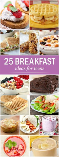 Is your teen always in a hurry & does not eat breakfast? Here are 25 easy and healthy breakfast for teens, check our recipes ideas to get your teenager eat!