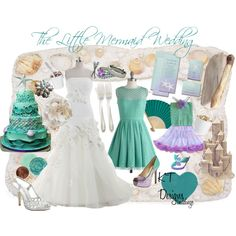 Little Mermaid Inspired Shoes Fashion Look From June 2017 Featuring Landybridal Dresses Debut