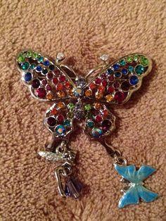 Kirks Folly Rainbow Butterfly Fairy Pin