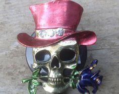 Sugar skull retractable badge reelMedical badgeRN