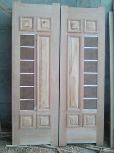 Wooden Front Door Design, Double Door Design, Main Door Design, Wood Design, Wood Front Doors, Pooja Room Door Design, Door Design Interior, Door Design Images, Modern Wooden Doors