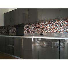 House of Mosaics Ibiza Mosaic Tile Sheet - 300 x 300 mm Mosaic Tile Sheets, Mosaic Tiles, Mosaics, Colourful Kitchen Tiles, Kitchen Interior, Home Buying, Ibiza, Home Improvement, Kitchen Cabinets