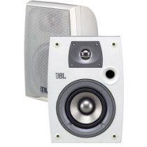 JBL Northridge 4 Weather-Resistant Bookshelf Speakers with Brackets - Off White (Pair) Speaker Mounts, Home Audio Speakers, Wireless Speakers, Bookshelf Speaker Stands, Ceiling Speakers, Outdoor Speakers, 2 Way, Home