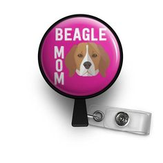 beagle dog lover nurse badge reel