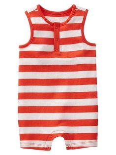 Stripe tank one-piece - love so much for a baby boy