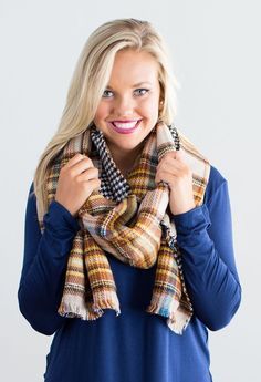 Two-Faced Blanket Scarf