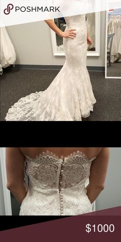 Used wedding dress for sale Originally $3,500. Used but in good condition! Beautiful dress! Says size 10 but it has been altered to fit me. I'm a size 2 5'3 Dresses Wedding
