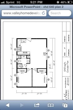 Small house floor plan.