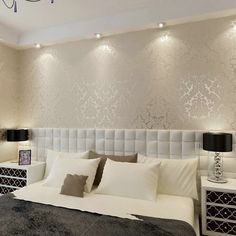 Victorian Damask wallpaper silver scroll background wall wallpaper pvc roll wall papers home decor for living room & bedroom