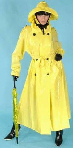 Rain coat Fashion - Rain coat For Women Raincoat - - - Rain coat Beige Vinyl Raincoat, Dog Raincoat, Plastic Raincoat, Hooded Raincoat, Stylish Raincoats, Raincoats For Women, Parka, Rain Fashion, Raincoat Outfit
