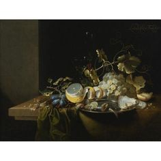 Laurens Craen - STILL LIFE OF HAZELNUTS, GRAPES,...