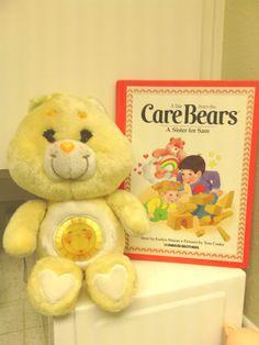 Vintage Care Bear Funshine Plush Toy 1980's