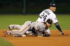 Crawford Tags Cabrera to Make Inning Ending Double Play - Game 3.