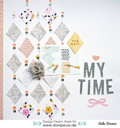 #papercraft #scrapbook #layout  My time by Anke Kramer at @studio_calico