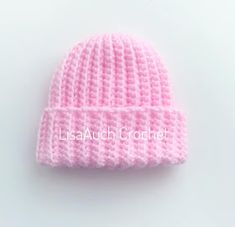 Newborn Baby Crochet Hat Pattern - Perfect for Donating to Hospitals # crochet baby patterns newborns Newborn Baby Crochet Hat Pattern - Perfect for Donating to Hospitals Easy Crochet Baby Hat, Crochet Baby Hats Free Pattern, Newborn Crochet Patterns, Baby Hats Knitting, Crochet Baby Clothes, Crochet Shark, Newborn Crochet Hats, Free Knitting, Newborn Hats