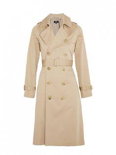 A.P.C. Atelier De Production Et De Création Greta Cotton-Garbadine Trench Coat