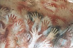 (by Felicitas Molina) Rock Art in Cueva de las Manos, South America-the paintings are about 12.000 years old.